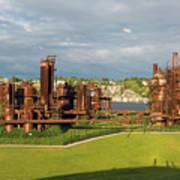 Gas Works Park In Seattle Washington Art Print