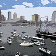 Gasparilla Invasion Work Number 3 Art Print