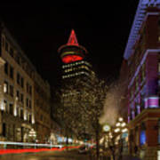 Gastown In Vancouver Bc At Night Art Print
