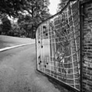 Gate And Driveway Of Graceland Elvis Presleys Mansion Home In Memphis Tennessee Usa Print by Joe Fox