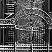 Gate And Snow Art Print