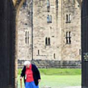 Gate At Alnwick Castle Art Print