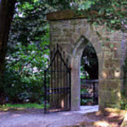 Gate At Cong Abbey Cong Ireland Art Print