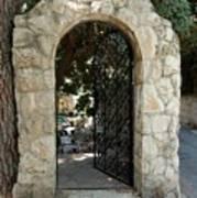 Gate In Rehavia I Art Print