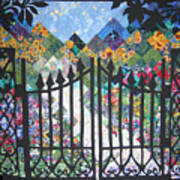 Gate Into The Garden Art Print by Sarah Hornsby