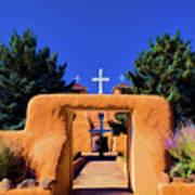gate of church in Ranchos Art Print