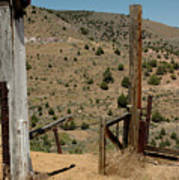 Gate Out Of Virginia City Nv Cemetery Art Print