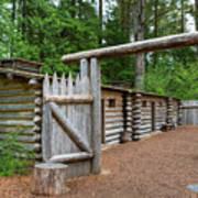 Gate To Log Camp At Fort Clatsop Art Print