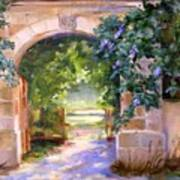 Gate To The Chateau Art Print