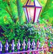 Gate With Lantern Art Print