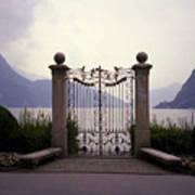 Gates At Lake Lugano Art Print