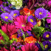 Gathered Garden Flowers Art Print