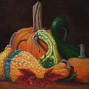 Gathering Of The Gourds Art Print