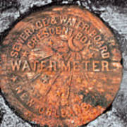New Orleans Water Meter Cover 9 Months After Katrina Art Print