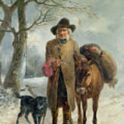 Gathering Winter Fuel  Art Print by John Barker