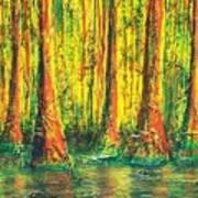 Gator Swamp Art Print