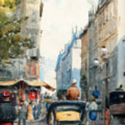 Gatubild Paris Art Print