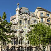 Casa Batillo - Gaudi Designed  - Barcelona Spain Art Print