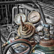 Gauges And Tanks For Cutting Torches Art Print