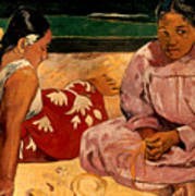Gauguin: Tahiti Women, 1891 Art Print
