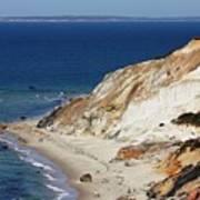 Gay Head Cliffs And Beach Art Print