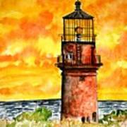 Gay Head Lighthouse Martha's Vineyard Art Print