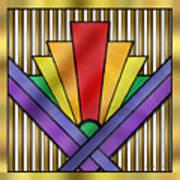 Rainbow Art Deco Art Print
