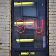 Gay Sign Art Print