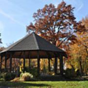 Gazebo At North Ridgeville - Autumn Art Print