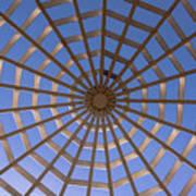 Gazebo Blue Sky Abstract Art Print