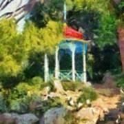 Gazebo In The Nikitsky Botanical Garden Art Print