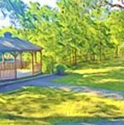 Gazebo On Onion Creek Art Print