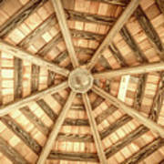 Gazebo Roof Art Print