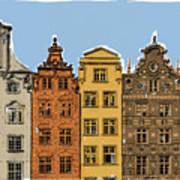 Gdansk Buildings Art Print