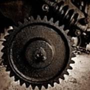 Gear And Screw Sepia 2 Art Print