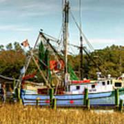 Geechie Seafood Shrimp Boats Art Print