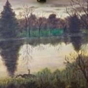 Geese At Sunrise Art Print