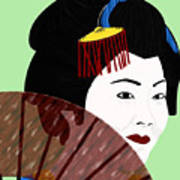 Geisha Art Print by Melissa Stinson-Borg