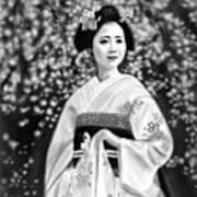Geisha No.146 Art Print by Yoshiyuki Uchida