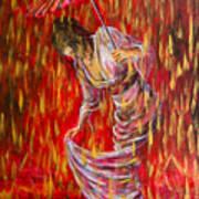 Geisha - Rain Dance 01 Art Print