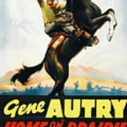 Gene Autry In Home On The Prairie 1939 Art Print