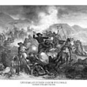 General Custer's Death Struggle  Art Print by War Is Hell Store
