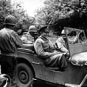 General Eisenhower In A Jeep Art Print
