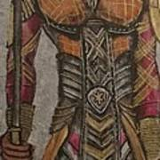 General Okoye Of The Wakandian Elite Forces   Art Print
