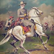 General Robert E. Lee On Horseback Art Print