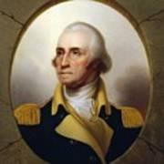 General Washington - Porthole Portrait  Art Print