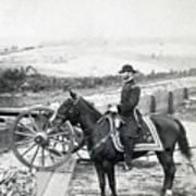 General William T Sherman On Horseback - C 1864 Art Print