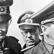 Generalfeldmarschall  Erwin Rommel And Staff Number 1 North Africa 1942 Color Added 2016 Art Print