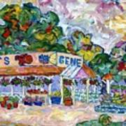 Gene's Farm Stand Art Print by Popo  Flanigan
