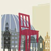 Geneva Skyline Poster Art Print
